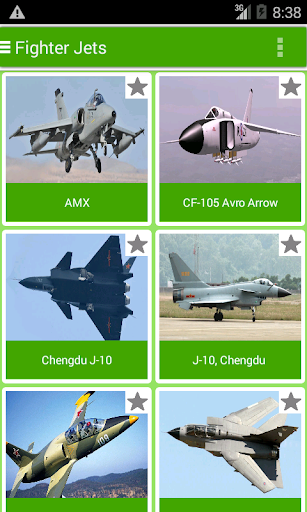 Fighter Jets Catalogue