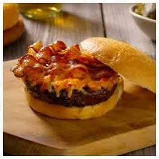 Pimento (Red Pepper) Cheese-Bacon Burgers.