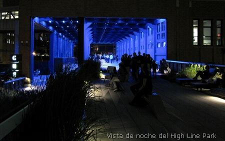 high line parque nueva york noche