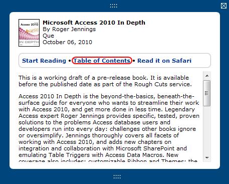 "Roger Jennings' Access Blog: ""Microsoft Access 2010 In Depth"" Rough"