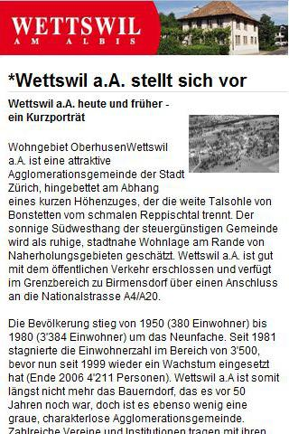 Wettswil am Albis - screenshot
