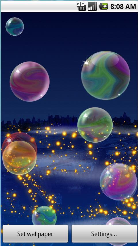 Nicky Bubbles Live Wallpaper L - screenshot