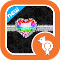 Rainbow Luxury Lace Theme SMS icon