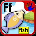 ABC preschool word pictures icon