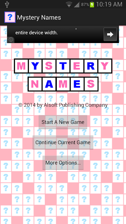 Mystery Names- screenshot