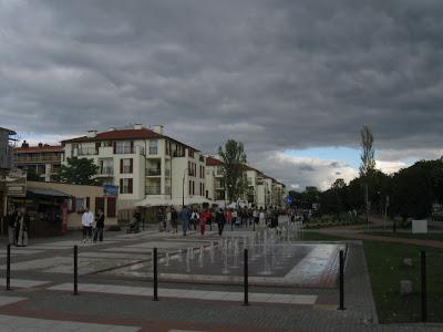 Promenada w Świnoujściu - fontanny