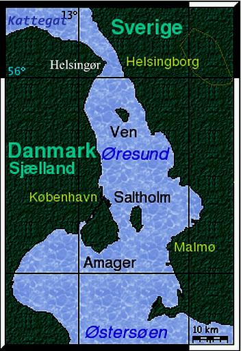 %C3%98resund%20kort - Undervandsjagt i Øresund!