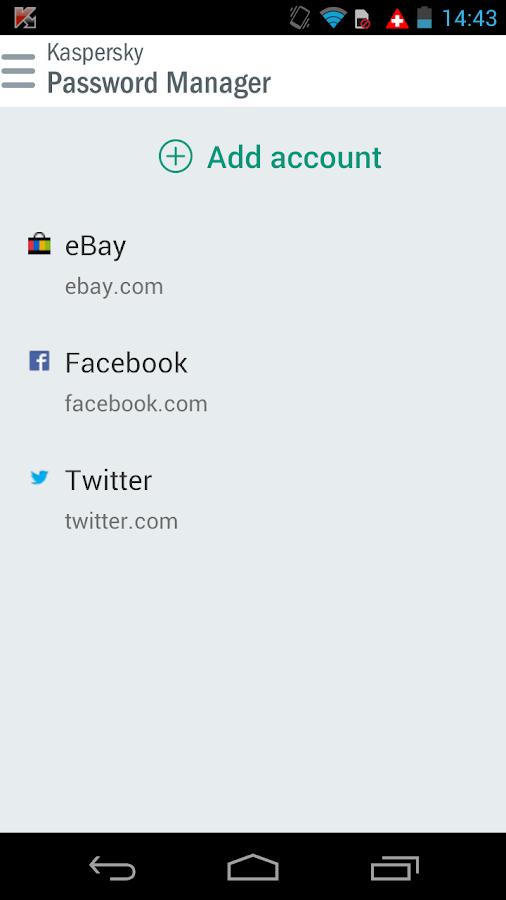 Kaspersky Password Manager - screenshot