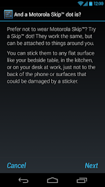 Motorola Skip™ Setup Screenshot 2