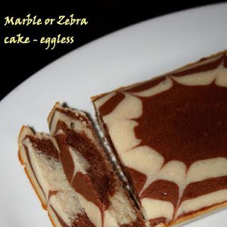 Quick Marble or Zebra cake – eggless