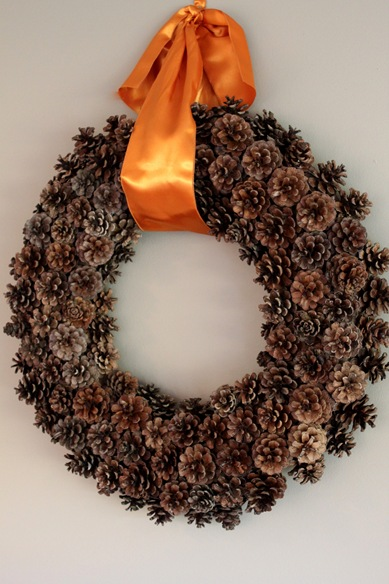 pinecone wreath - 20 things I love about fall