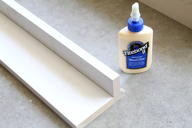 MDF with wood glue