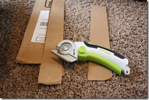 zip and snip used to cut cardboard