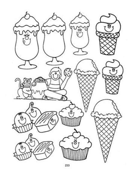 Dibujos Para Colorear De Dulces Para Niños