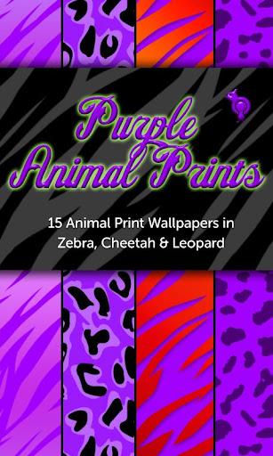 Purple Animal Prints Wallpaper