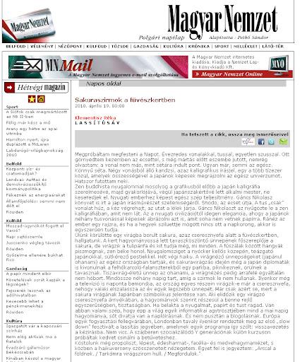 Magyar Nemzet cikk - Gáncs Nikolasz