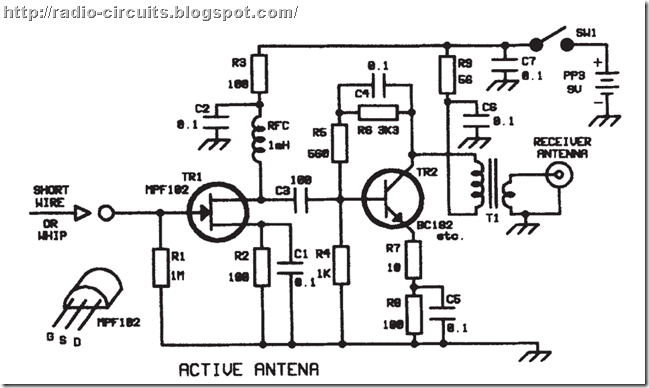 radio circuits blog  active antenna for shortwave reception