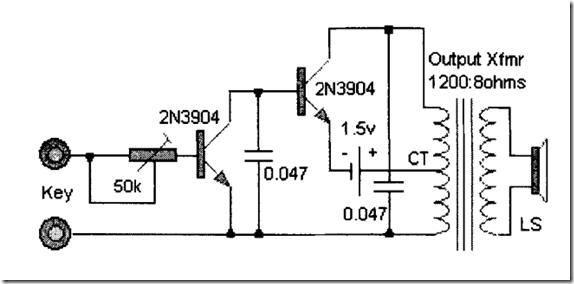 radio circuits blog  simple morse oscillator