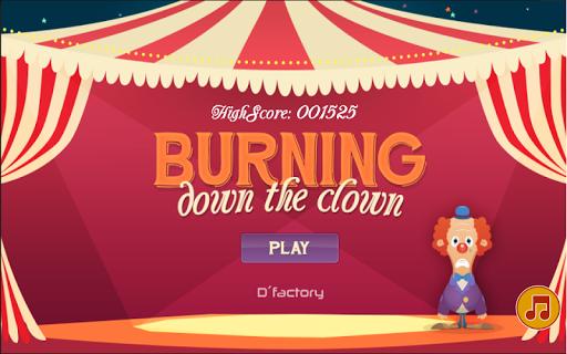 Burning down the clown