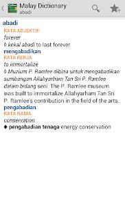 Collins Malay Dictionary TR - screenshot thumbnail