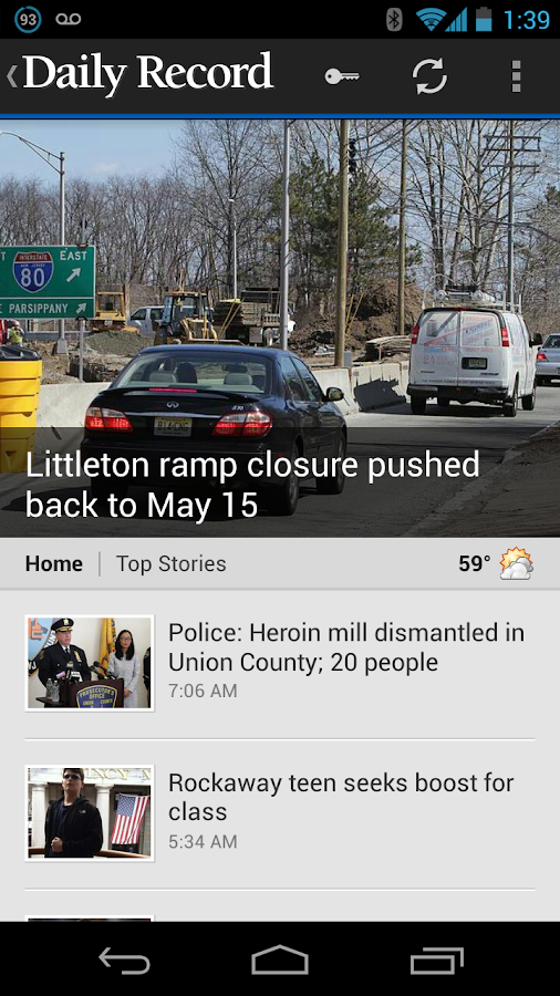 Daily Record Morris Co, NJ - screenshot