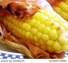 Fresh grilled corn