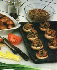 Veg Stuffed Mushrooms