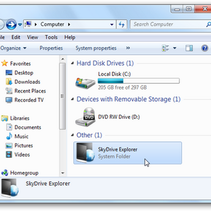 Integrar SkyDrive al Explorador de Windows