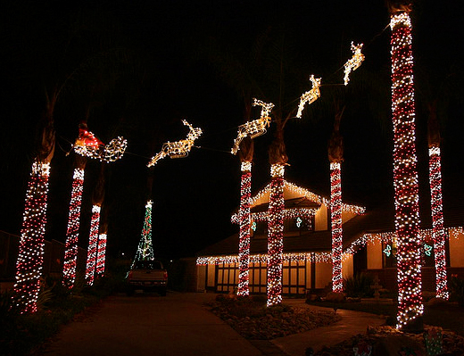 Christmas Lights In Brea
