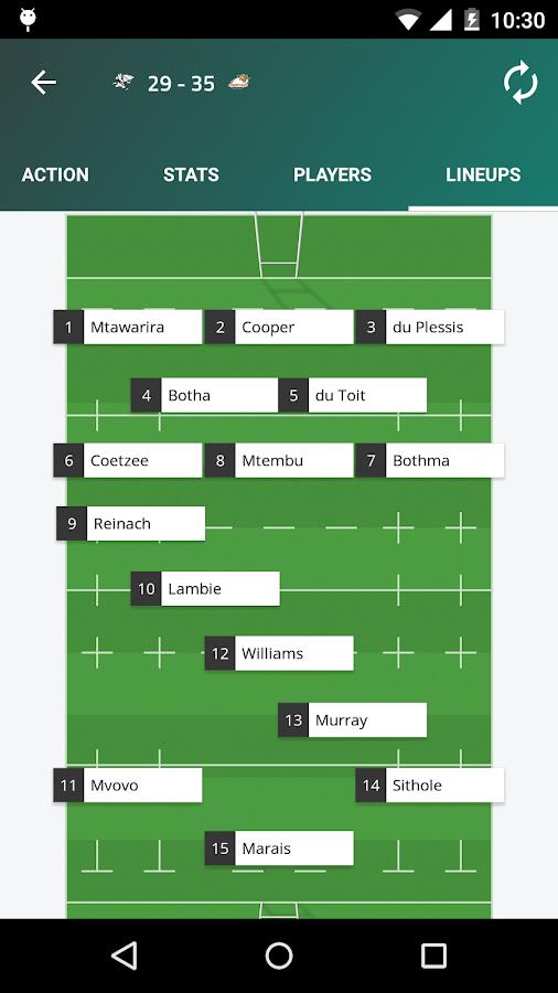 Super XV - Super Rugby Live - screenshot