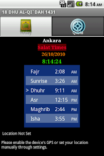 Salat Times - screenshot thumbnail