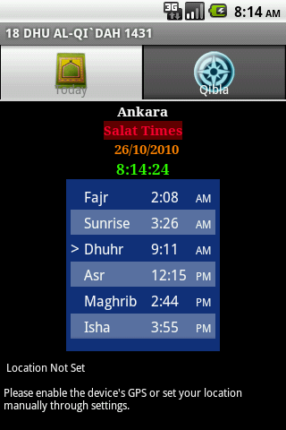 Salat Times - screenshot