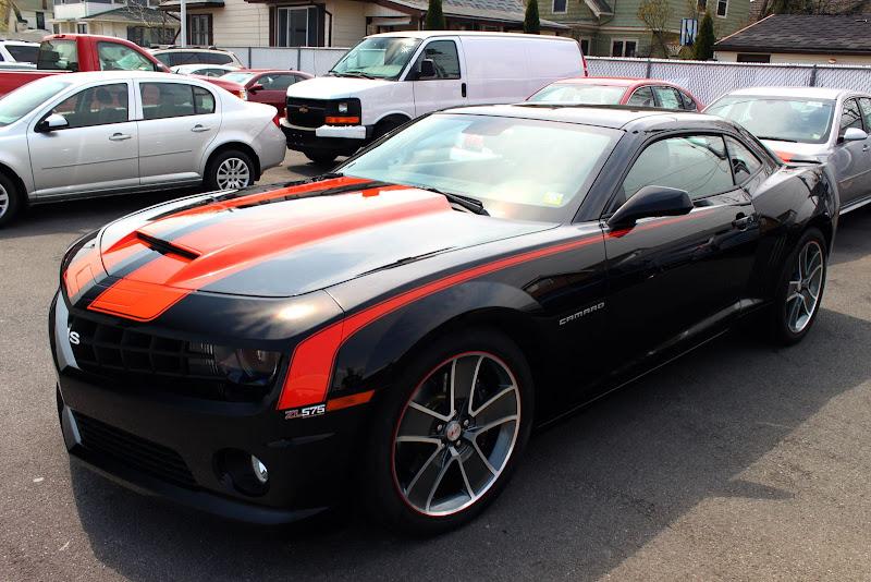 2010 Camaro Slp Zl575 Black W Orange Double Stripes