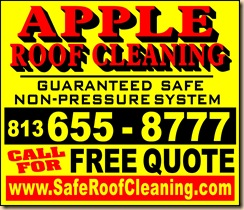 Tampa Florida Roof Cleaning Sign