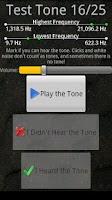 Screenshot of Test Your Hearing