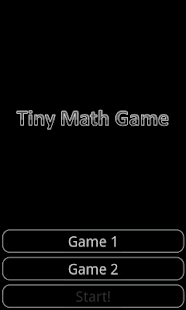 Tiny Math Game- screenshot thumbnail