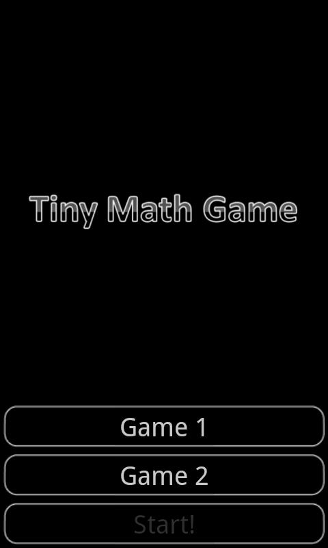 Tiny Math Game - screenshot