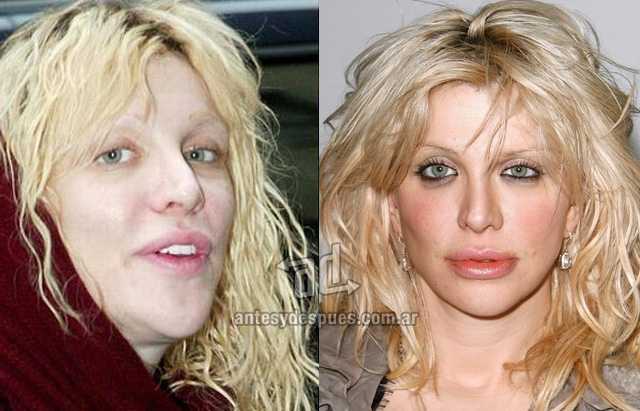 Courtney Love sin maquillaje