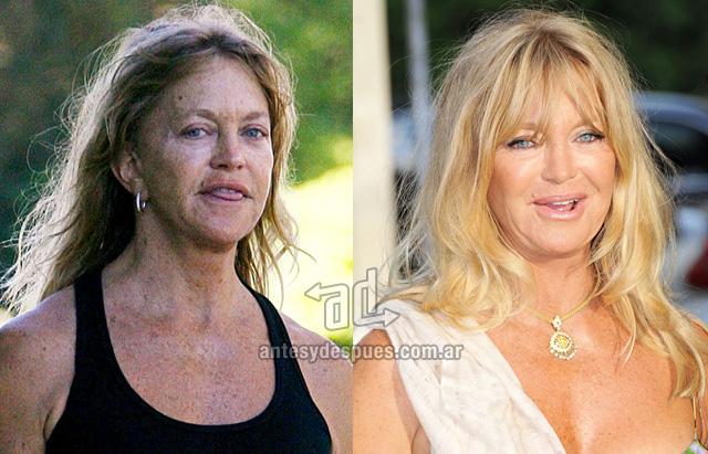 Goldie Hawn sin maquillaje