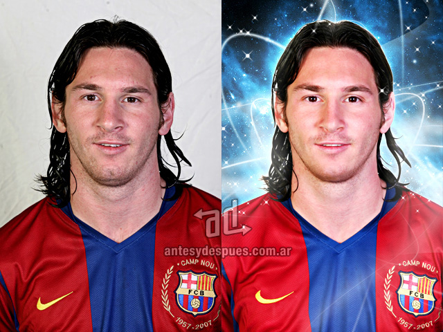 Lionel Messi sin Photoshop