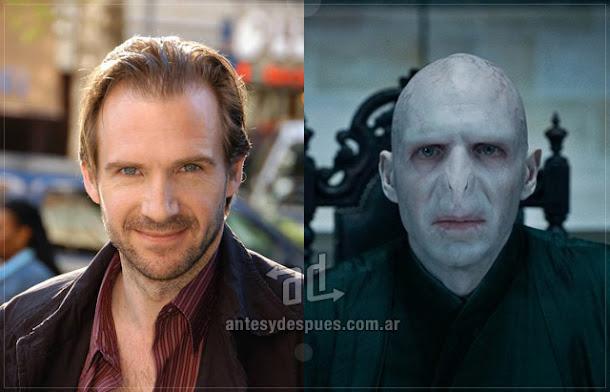 Ralph Fiennes sin máscara