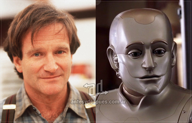 Robin Williams behind the mask
