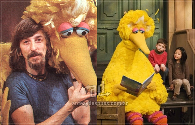 Caroll Spinney behind the mask
