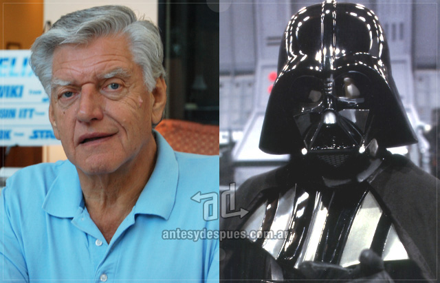 David Prowse behind the mask