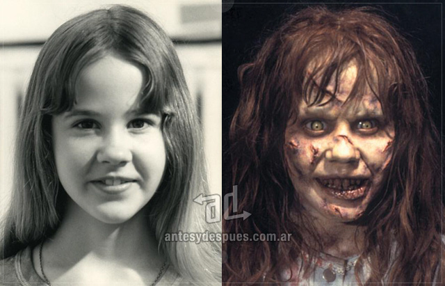 Linda Blair behind the mask
