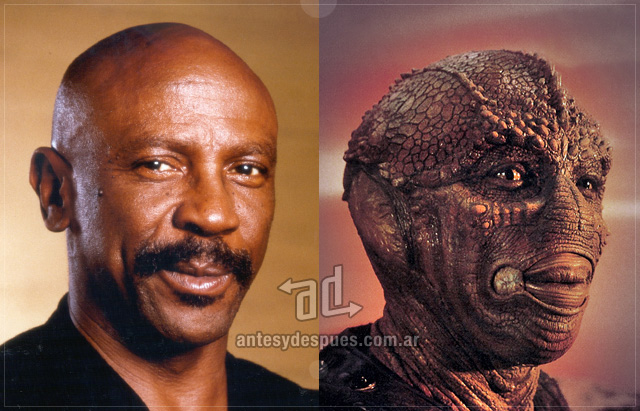 Louis Gossett, Jr. behind the mask