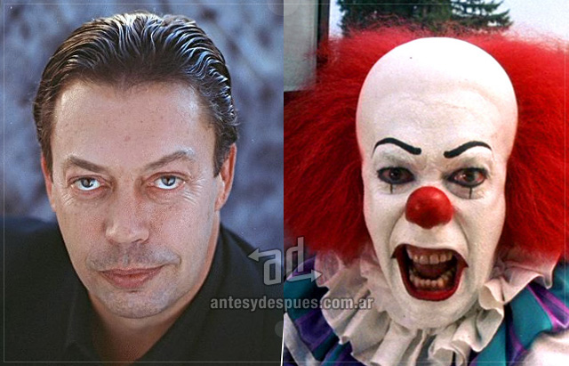 Tim Curry sin máscara