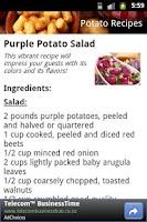 Screenshot of Potato Recipes
