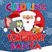 Coloring :Tom and Jerry Santa