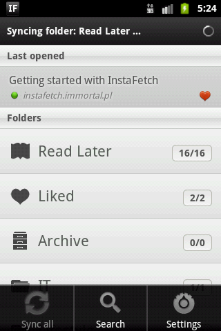 InstaFetch Lite - screenshot